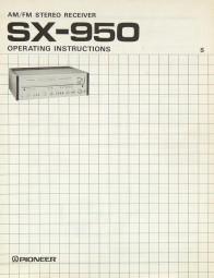 Pioneer SX-950 Bedienungsanleitung