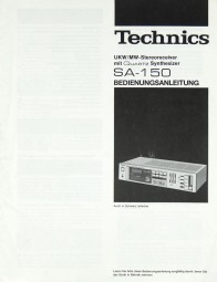Technics SA-150 Bedienungsanleitung