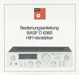 BASF D 6360 Bedienungsanleitung