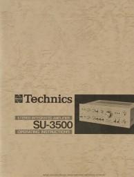 Technics SU-3500 Bedienungsanleitung