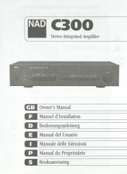 NAD C 300 Bedienungsanleitung
