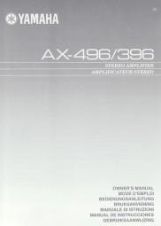 Yamaha AX-496 / 396 Bedienungsanleitung