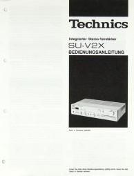 Technics SU-V 2 X Bedienungsanleitung