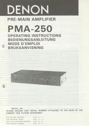 Denon PMA-250 Bedienungsanleitung