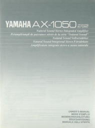 Yamaha AX-1050 Bedienungsanleitung
