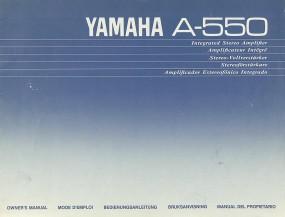 Yamaha A-550 Bedienungsanleitung