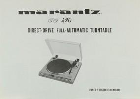Marantz TT 420 Bedienungsanleitung