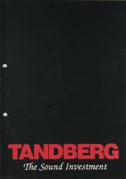 Tandberg Produktübersicht Prospekt / Katalog