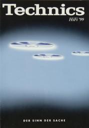Technics Gesamtkatalog 1999 Prospekt / Katalog