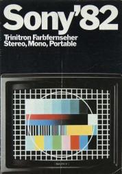 Sony Trinitron / Katalog 1982 Prospekt / Katalog