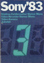 Sony Gesamtkatalog 1983 Trinitron Prospekt / Katalog