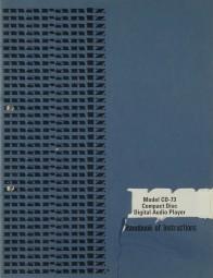 Marantz CD-73 Bedienungsanleitung