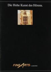 Fine Arts / Grundig Produktübersicht Prospekt / Katalog