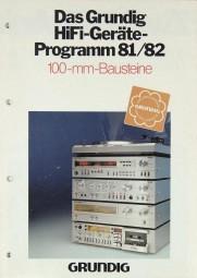 Grundig Programm 1981/1982 Prospekt / Katalog