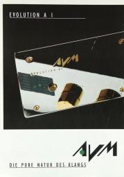 AVM Evolution A I Prospekt / Katalog