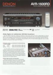 Denon AVR-1600 RD Prospekt / Katalog