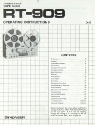 Pioneer RT-909 Bedienungsanleitung