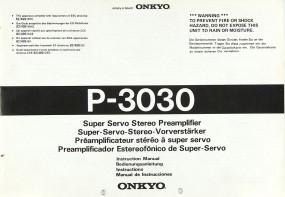 Onkyo P-3030 Bedienungsanleitung