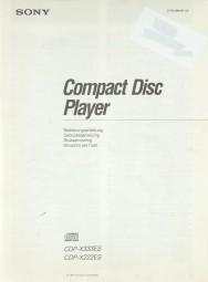 Sony CDP-X 333 ES / CDP-X 222 ES Bedienungsanleitung
