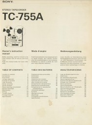 Sony TC-755 A Bedienungsanleitung