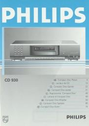Philips CD 930 Bedienungsanleitung