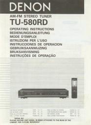 Denon TU-580 RD Bedienungsanleitung