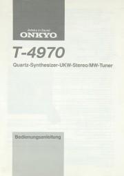 Onkyo T-4970 Bedienungsanleitung