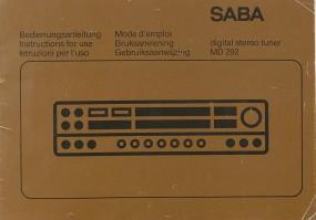 Saba MD 292 Bedienungsanleitung