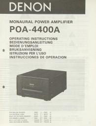 Denon POA-4400 A Bedienungsanleitung