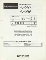 Pioneer A-757 / A-656 Bedienungsanleitung