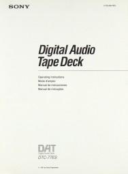Sony DTC-77 ES Bedienungsanleitung