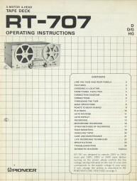 Pioneer RT-707 Bedienungsanleitung