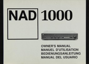 NAD 1000 Bedienungsanleitung