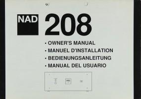 NAD 208 Bedienungsanleitung