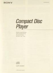 Sony CDP-X 33 ES Bedienungsanleitung