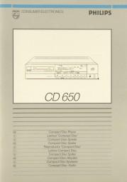 Philips CD 650 Bedienungsanleitung