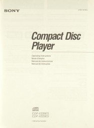Sony CDP-X 339 ES / CDP-X 229 ES Bedienungsanleitung