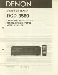 Denon DCD-3560 Bedienungsanleitung