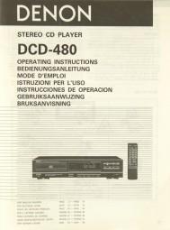 Denon DCD-480 Bedienungsanleitung