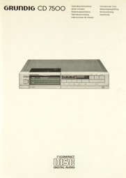 Grundig CD 7500 Bedienungsanleitung