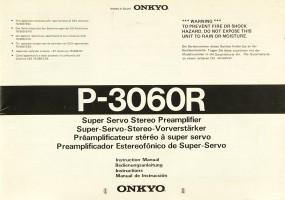 Onkyo P-3060 R Bedienungsanleitung