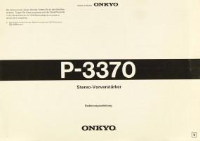 Onkyo P-3370 Bedienungsanleitung