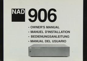 NAD 906 Bedienungsanleitung