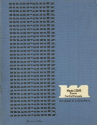 Marantz 3250 B Bedienungsanleitung