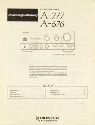 Pioneer A-777 / A-676 Bedienungsanleitung