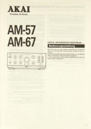Akai AM-57 / AM-67 Bedienungsanleitung