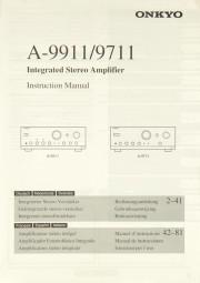 Onkyo A-9911 / A-9711 Bedienungsanleitung