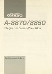 Onkyo A-8870 / A-8850 Bedienungsanleitung