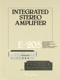 Accuphase E-205 Bedienungsanleitung