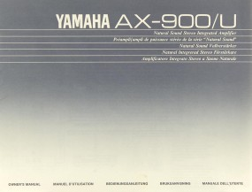 Yamaha AX-900/U Bedienungsanleitung